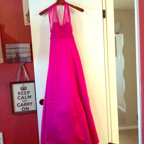 David's Bridal Dresses & Skirts - Hot pink Bridesmaid dress